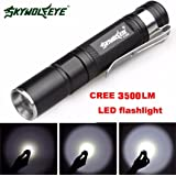 Mini Perman 3500 Lumens CREE XPE-R3 LED Flashlight Lamp Light Clip Torch Penlight AAA Battery