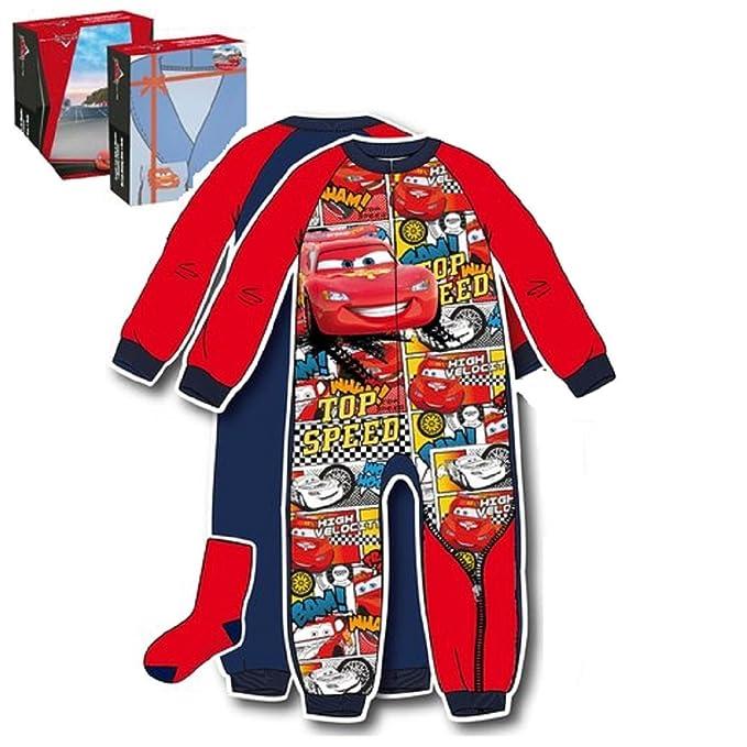Combinación con pijama y calcetines interior, diseño de Cars multicolor 24 meses