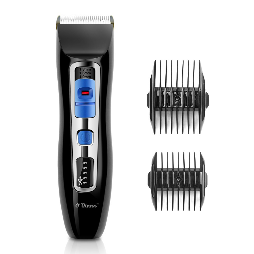 Hair Clipper-O'vinna Personal Care Stainless Steel Hair Clipper Portable Electric Hair Trimmer Cleaner Removal Shaver (Black) O'vinna HC-BK-20161212-FA