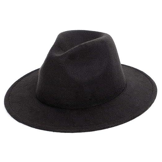 931c5f76e Fedora Hats Unisex Men Women Classic Vintage Wool Felt Hat Wide Brim Trilby  Jazz Hat Floppy Sun Hat