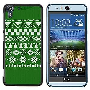 Stuss Case / Funda Carcasa protectora - Modelo de la Navidad Verde Blanco - HTC Desire Eye ( M910x )