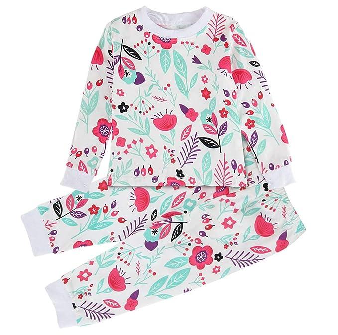 Mombebe Pijamas Niñas Natale Infantil Inverno Flor Ropa Set: Amazon.es: Ropa y accesorios