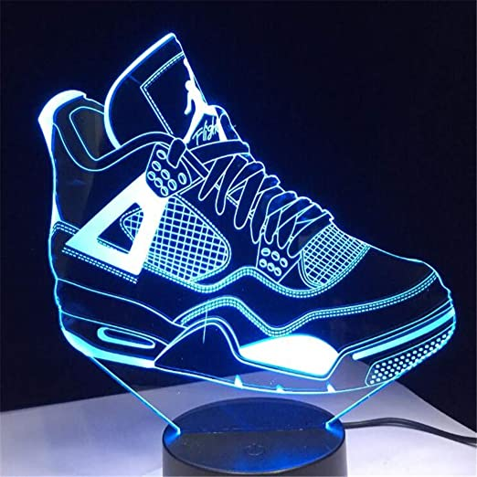 cheap for discount 4796a bd1fc Kinder 3D Geschenk Sneaker Led Licht Tischlampe Kinder ...