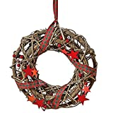 Bring the beauty of nature to your home with our Stockbridge Star Wreath. Finished with a layer of red and green tartan plaid ribbon with tasteful threads of gold, this festive wreath is ready to adorn your door with its pine cones, berries a...