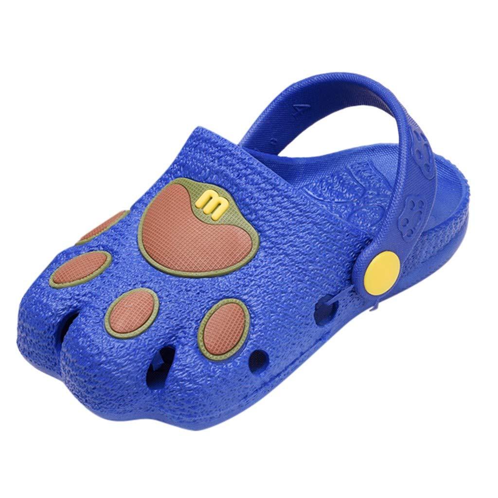 Kids Girls Cute Baby Boys Girls Cartoon Paw Cute Slippers Hollow Beach Sandals Casual Flat Shoes