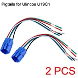 NOT FIT U19D1, 19mm Pigtail, Wire Connector, Socket Plug for U19C1 Push Button Switch (Pack of 2)