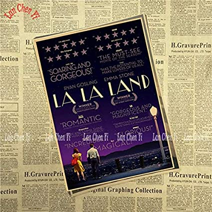 Dalab Multiple Awards Classic Movie La La Land Kraft Paper