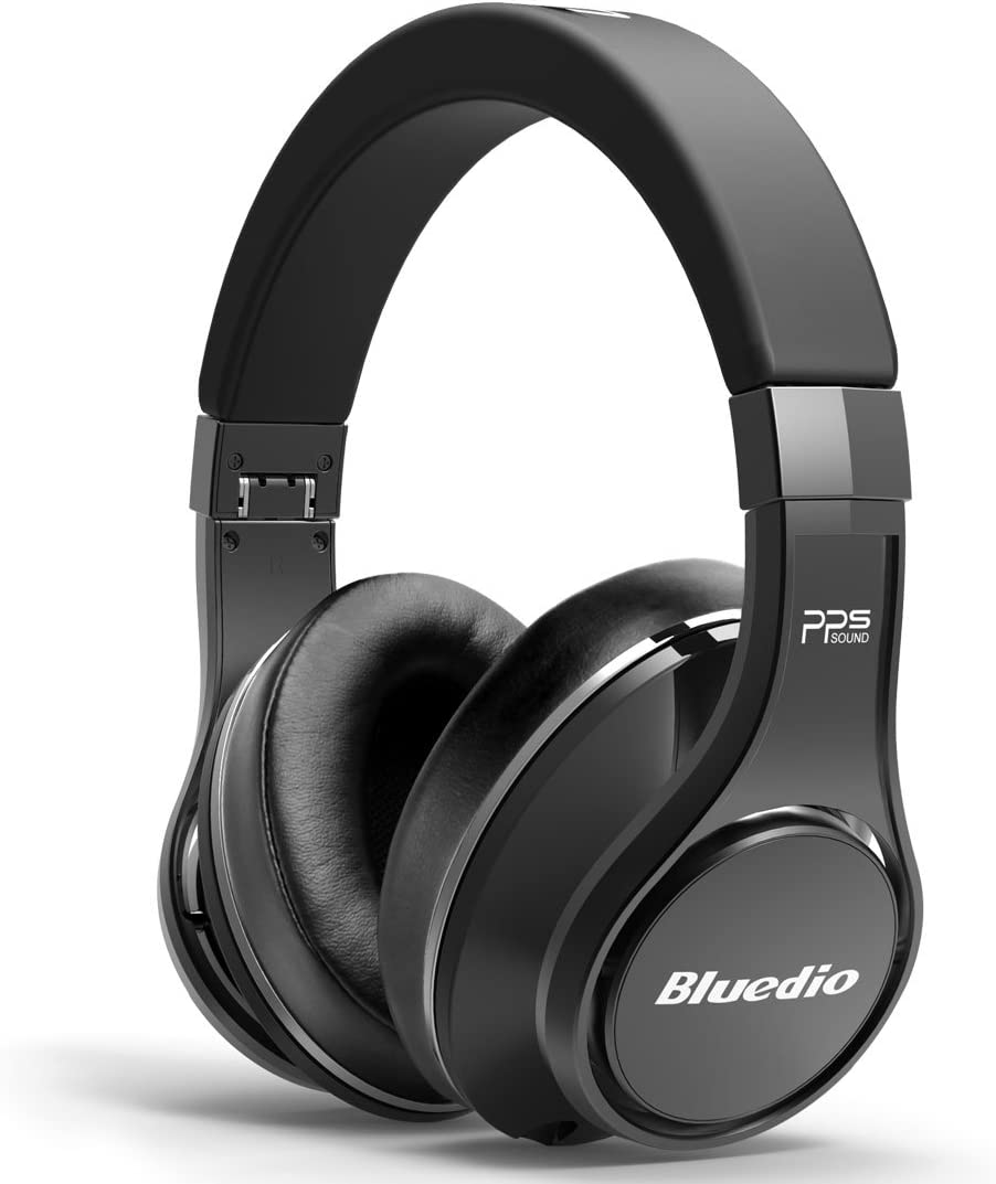 Bluedio U UFO PPS 8 Drivers High-End Bluetooth headphones Revolution 3D Sound Effect Aluminum alloy build Hi-Fi Rank wireless wired Over-Ear headsets with carrying hard case Gift-package Black