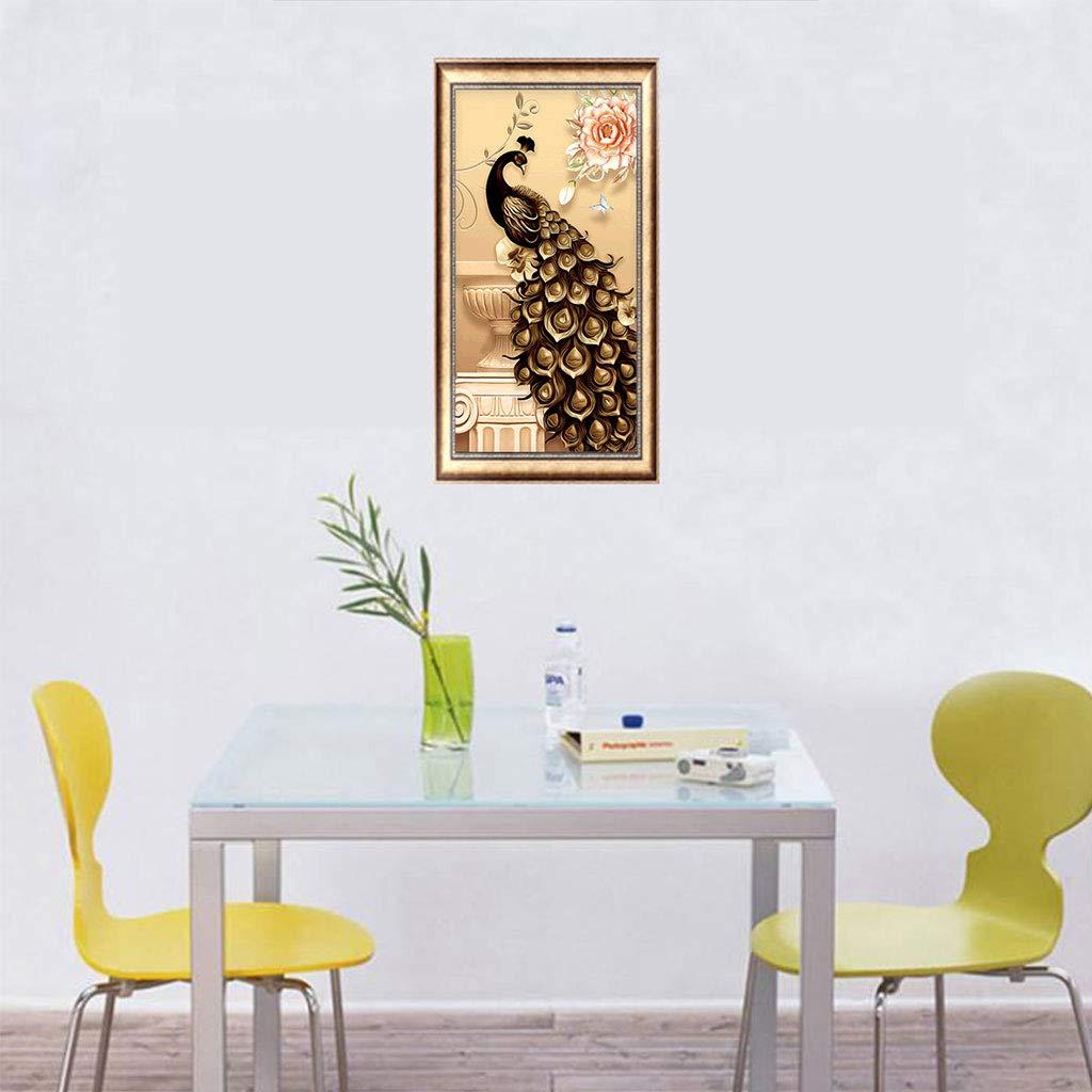 Jatidne 5D Pittura Diamante Ricamo Kit Completo Drill 30/cm x 30/cm DIY Diamond Art for Home Wall Decal Peacock