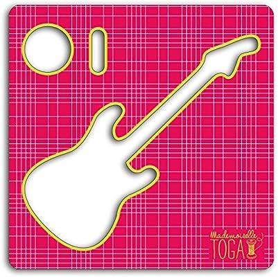 Mademoiselle Toga mero213 Plantilla Costura Guitarra cartón Gris 12.5 x 12.5 x 0.2 cm: Amazon.es: Hogar