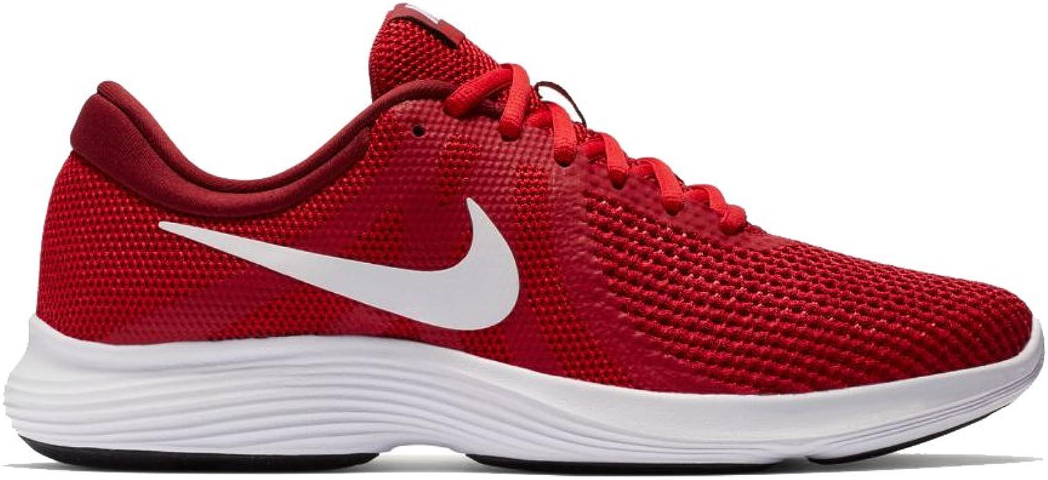 Nike Mens Revolution 4 Gym RED White Team RED Black Size 11.5