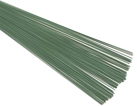 22 Gauge /& 10 inch Green Florist Stub Wire for Wedding Christmas UK