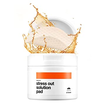 [BELLAMONSTER] Stress Out Solution Pad 155ml 70ea / 3D Embossed Vitamin A Carrot Seed Oil Pad Removes Dead Skin Cells and Red Spots, Acne Relief, ...
