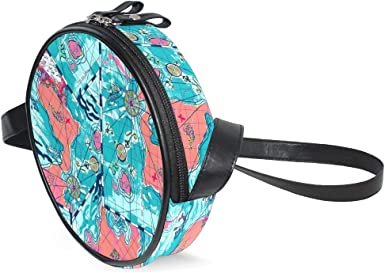 KEAKIA Anchor Color Round Crossbody Bag Shoulder Sling Bag Handbag Purse Satchel Shoulder Bag for Kids Women