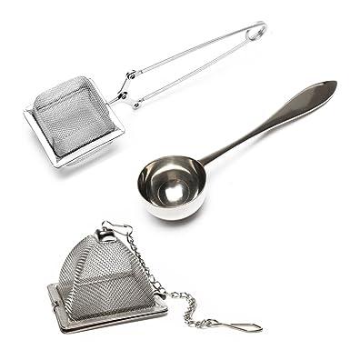 VAHDAM, Juego de 2 infusor de te y 1 cucharada de té | 100% acero inoxidable | infusionador- infusor | filtro de té de la más alta calidad, colador de ...