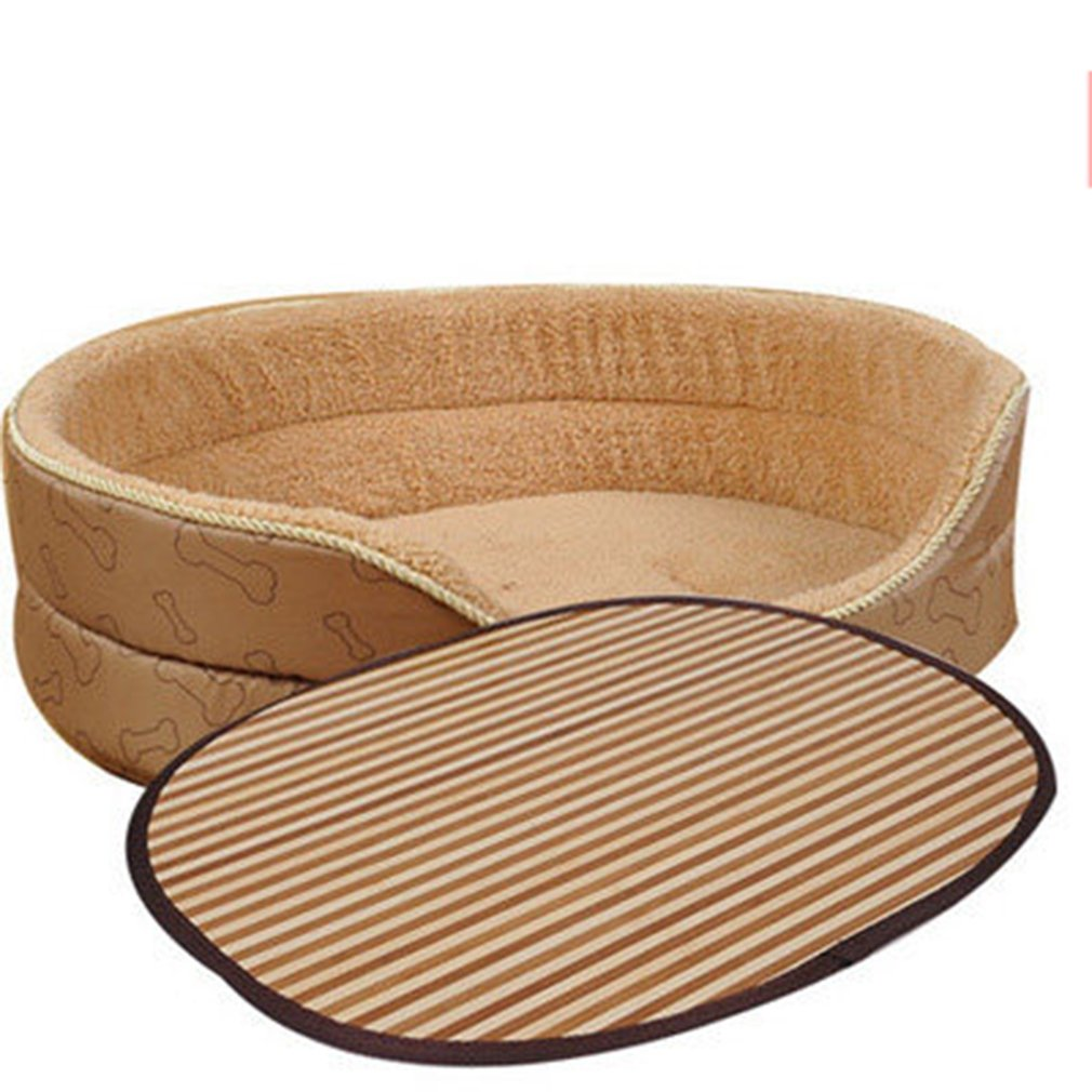 A luoliwei Dog Bed Pet Bed Cat Washable Anti-slip Soft Small Pad Detachable Homes All Season (65CM)