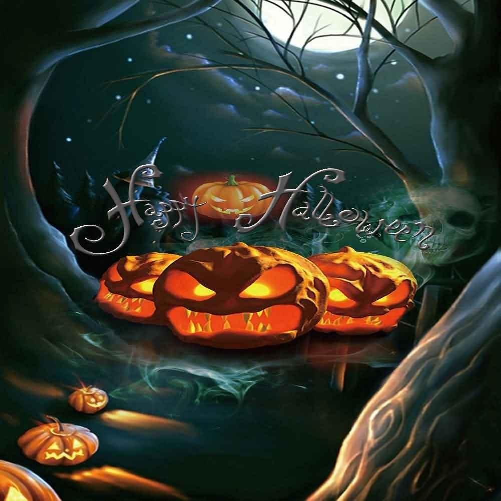 GladsBuy Evil Devil 8 x 12 Computer Printed Photography Backdrop Halloween Theme Background LMG-074