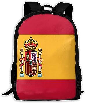 Mochila Escola,Bandera De España De Cola Larga con Cremallera Mochila Escolar Mochila De Viaje Mochila De Gimnasio Bolsa para Hombre Mujer: Amazon.es: Equipaje