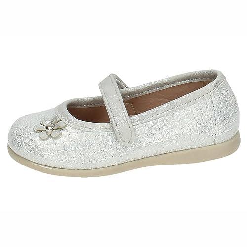 f0476268518 BONINO 1-B6000A-12 Manoletinas Blancas NIÑA Manoletinas Blanco 21   Amazon.es  Zapatos y complementos