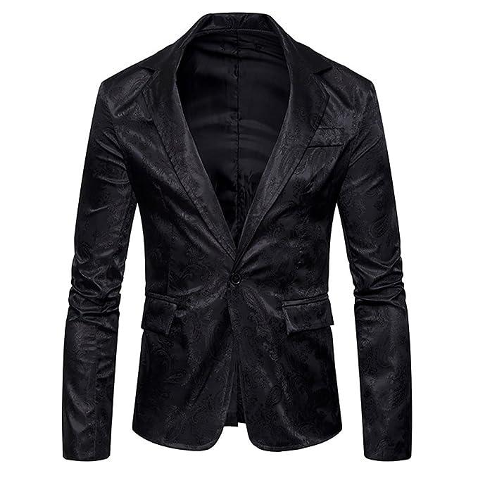 Amazon.com: cloudstyle Mens Slim Fit traje de una hilera de ...