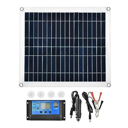 Amazon.com: BTIHCEUOT Panel solar flexible portátil 25 W ...