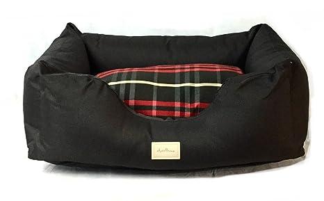 Caseta para Anteprima Perros Made in Italy de interior negra y Tartán