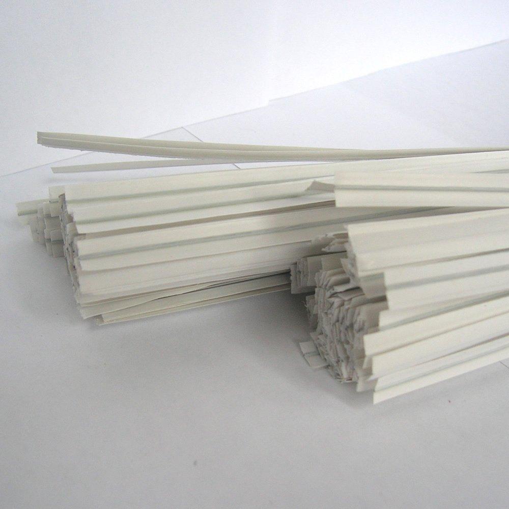 Weststone 2000pcs paper 4'' x 1/4'' twist ties - White