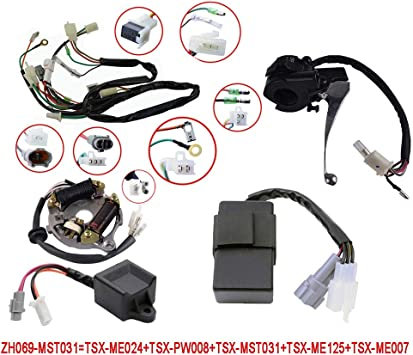 yamaha cdi wiring color amazon com flypig wiring harness wire loom ignition switch cdi  flypig wiring harness wire loom
