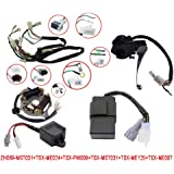flypig wiring harness wire loom ignition switch cdi unit magneto stator for  yamaha pw50
