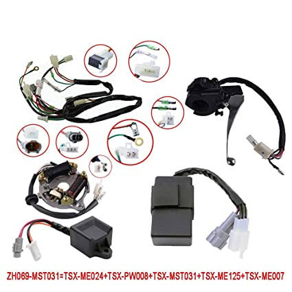 Incredible Amazon Com Flypig Wiring Harness Wire Loom Ignition Switch Cdi Unit Wiring Database Numdin4X4Andersnl