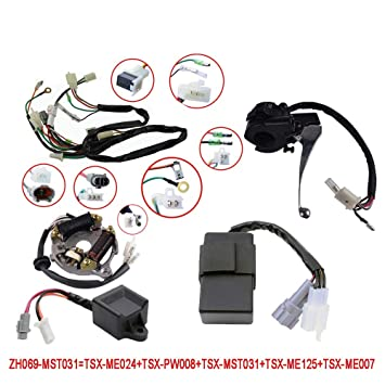 flypig wiring harness wire loom ignition switch cdi unit magneto stator for yamaha pw50 Wiring Harness for Golf Cart