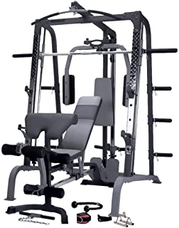 Marcy SM4000 Deluxe Smith Machine - Multigym - Gimnasio en casa - Incluye banco de ejercicio