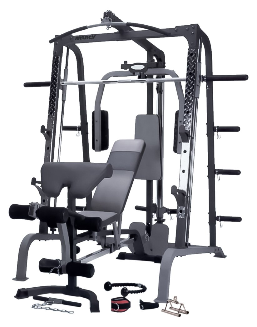 Marcy sm4000 deluxe smith machine home gym with weight bench marcy sm4000 deluxe smith machine home gym with weight bench amazon sports outdoors pooptronica Image collections