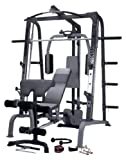 Marcy SM4000 Deluxe Smith Machine Home Gym with Weight Bench
