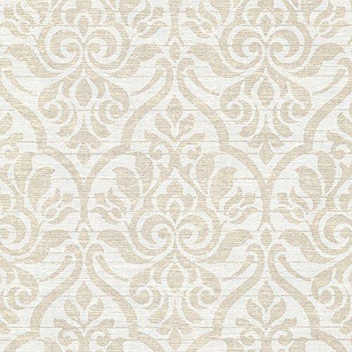 Beacon House 2614-21065 Malia Heirloom Damask Wallpaper, Sand