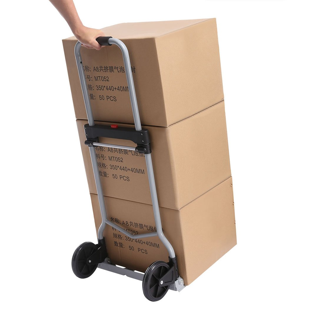 Aluminium Stair Climber Sack Truck Shopping Trolley Foldable Load Capacity 100 kg Hand Truck Quick and Easy Transport
