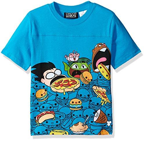 Warner Bros. Big Boys' Teen Titans Foodies T-Shirt, Blue, 10/12