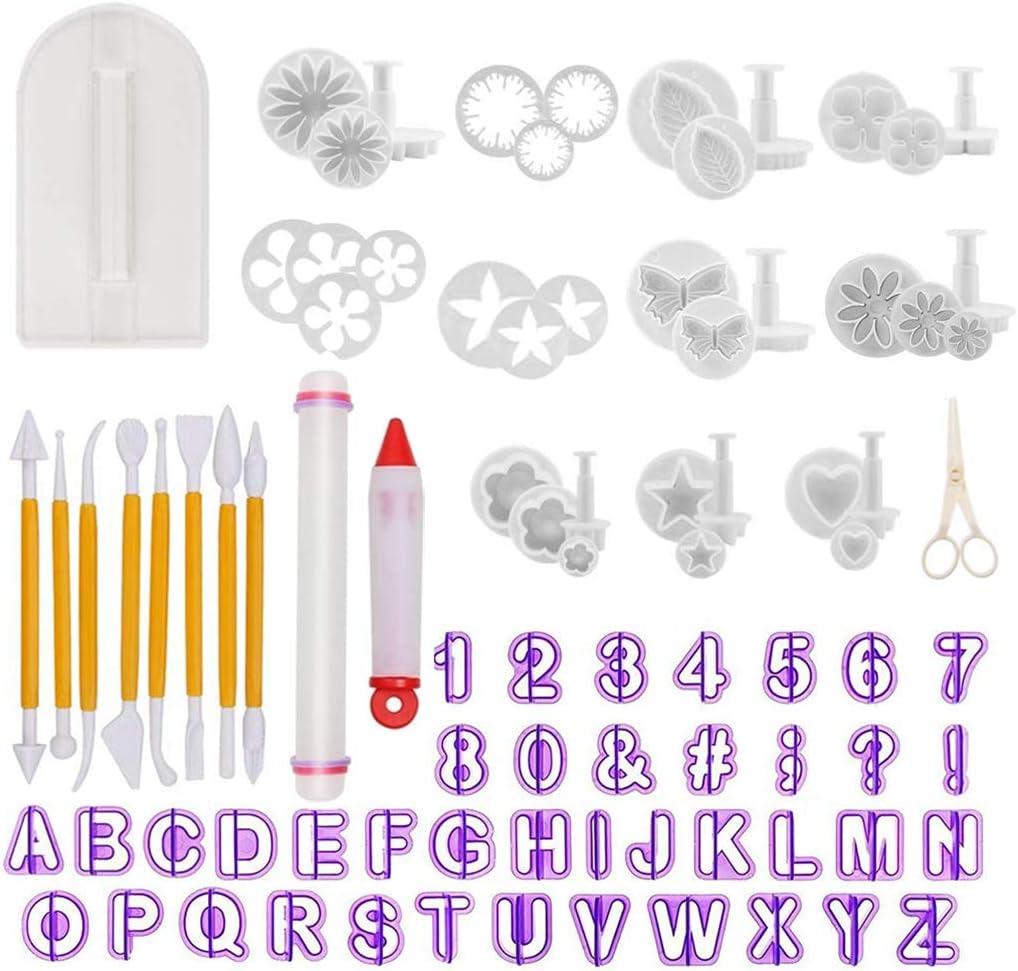 Alphabet Number Letter Fondant Cake Decorating Set Icing Cutter Mold Mould FA