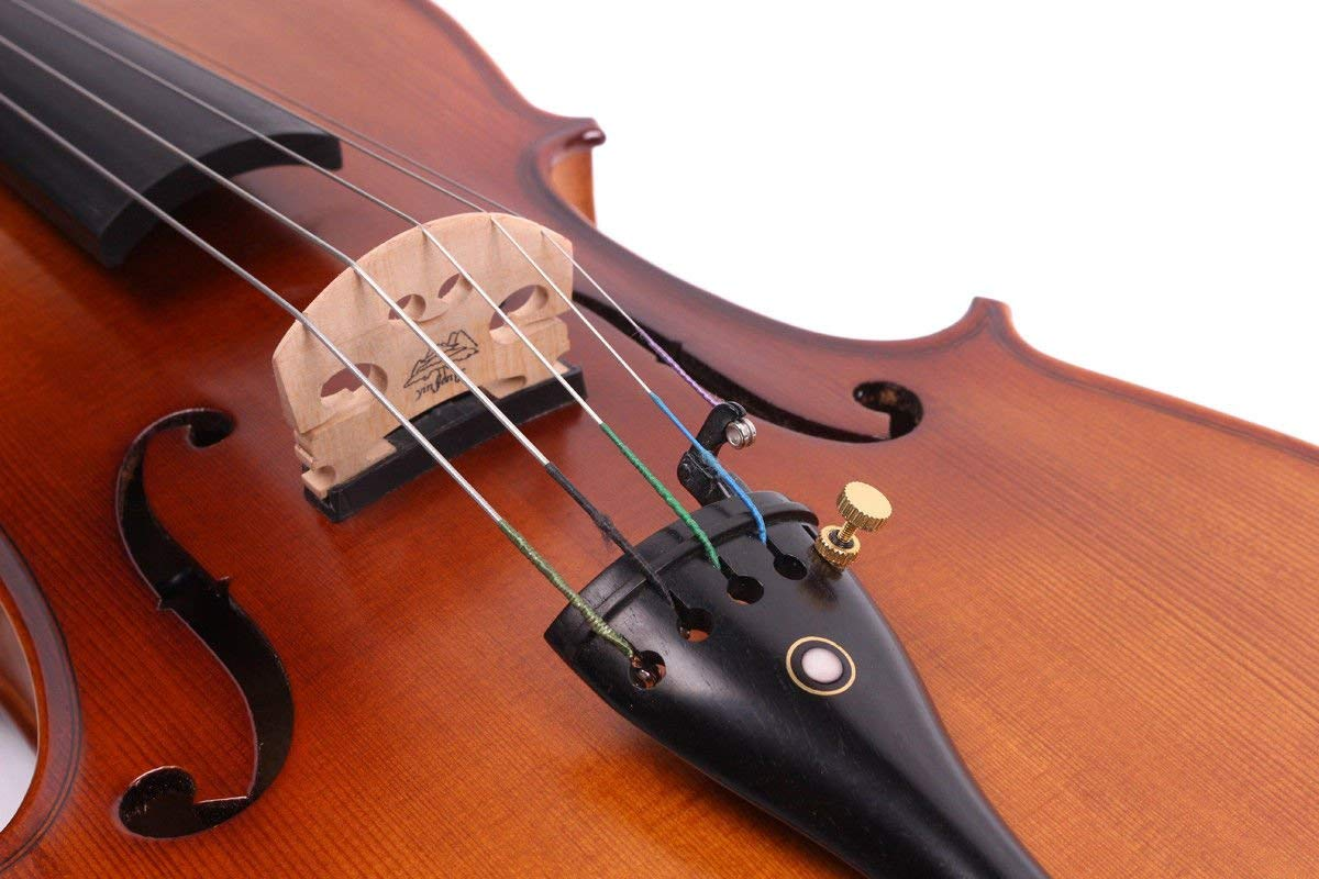 Yinfente 4/4 violin 5 string Electric violin Full size Maple Spruce wood Big jack Ebony wood Violin parts Sweet Sound by yinfente (Image #4)