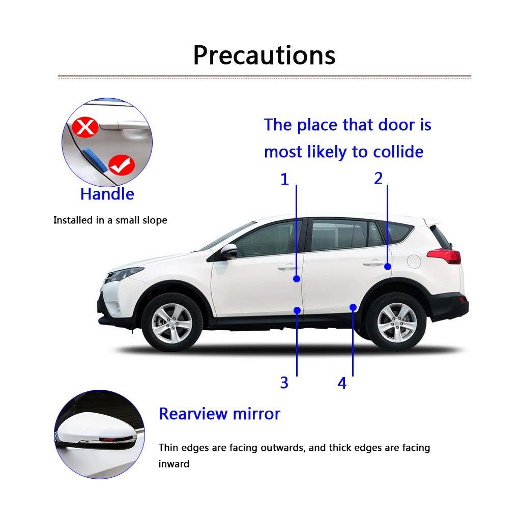 4 X Porte de voiture Protection Stickers pare-chocs de voiture Porte Edge Protector Anti-frottements anticollision /écran Voiture R/étroviseur protection des bords