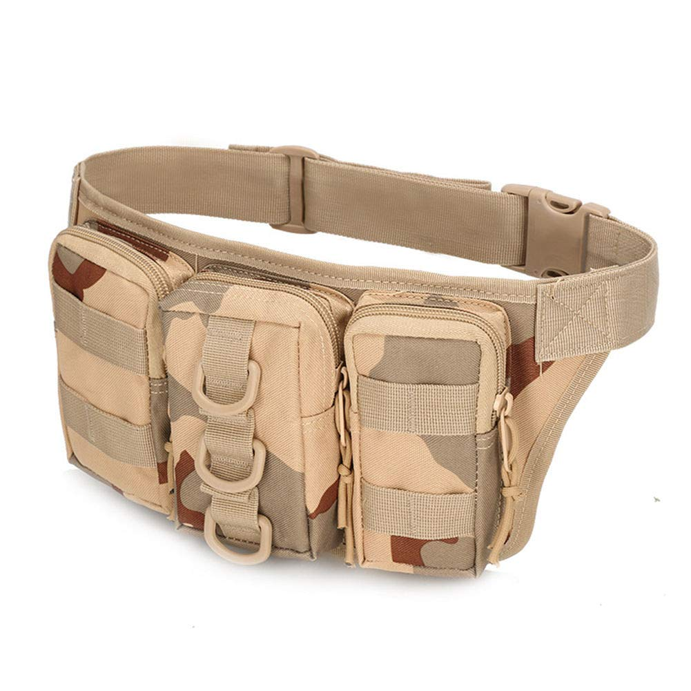 Waterproof USA camo Fanny Pack for Trekking Hiking Climbing Cycling Tactical Waist Bag with Multiple Color (Camo)