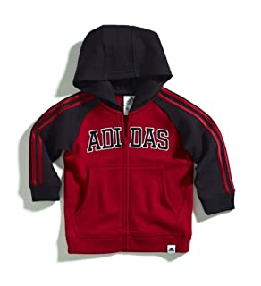 adidas Baby Boys Infant Itb Warm Up Hoodie Sweater, Red, 3