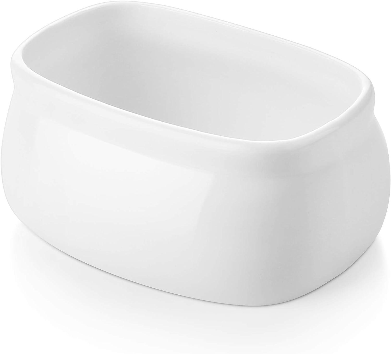 DOWAN Porcelain Sugar Packets Holder, Tea Bags Holder, Salt or Sweetener Packets Holder, White