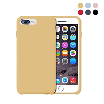 Amazon.com: iPhone 8 plus funda de silicona, iPhone 7 Plus ...