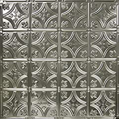 Set of 5 panels. Update your space with the top-trending Pattern #3. This (2'x2') authentic tin tile is the 6-inch version of our Pattern #2, the industry's top seller. It is a favorite choice for small accent areas due to its 6-inch pattern ...
