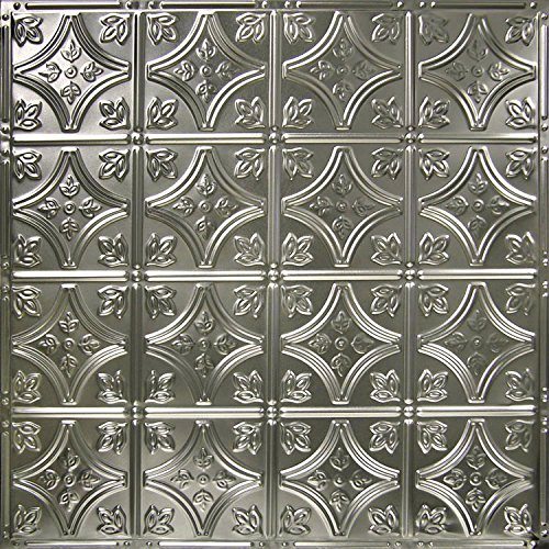 American Tin Ceilings 24x24Nail-Up Tin Ceiling Tile Pattern #3, 5 Pack, Unfinished