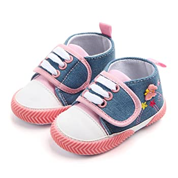 Baby Canvas Shoes - Infant Boys Girls Crib Shoes Toddler Sneakers for 0-18 Months