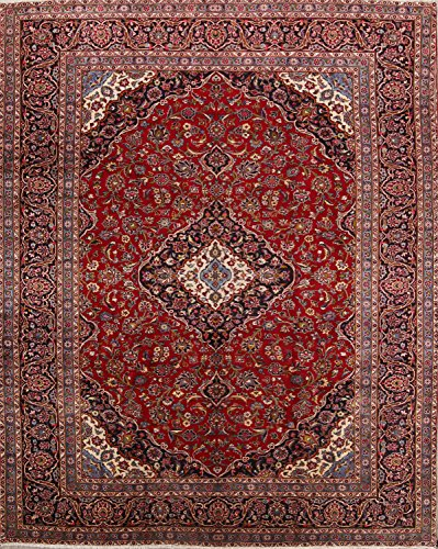 Rug Source Hand Knotted Traditional Floral 10x13 Kashmar Vintage Persian Area Rug for Bedroom (12' 8