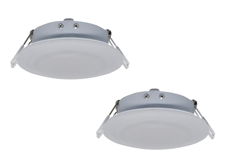 Pack of 2 Facon 4.5Inch LED RV Puck Light Full Aluminum Recessed Mount Down Light 12V DC 4W 280Lumens