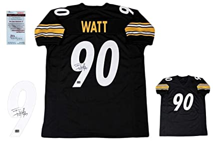 8a4bde100 Image Unavailable. Image not available for. Color  Tj Watt Autographed  Signed Jersey - JSA Authentic